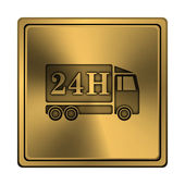 24H delivery truck icon — Stock Photo