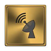 Wireless antenna icon — Stock Photo