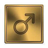 Znak mužského pohlaví ikona — Stock fotografie