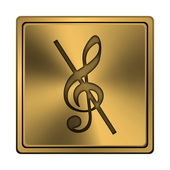 Musical note - no sound icon — Stock Photo