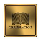 Translation book icon — Stock Photo