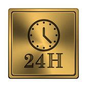 24h klockikonen — Stockfoto