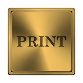 значок печати — Стоковое фото