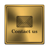 Contact us icon — Foto de Stock