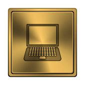 便携式计算机图标 — 图库照片
