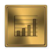 Icona di grafico a barre — Foto Stock