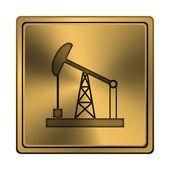 油ポンプ アイコン — ストック写真