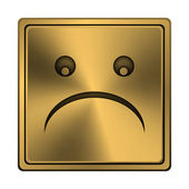 Icono smiley triste — Foto de Stock
