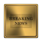 Breaking news icon — Stock Photo