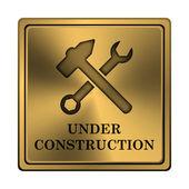 Under konstruktion-ikonen — Stockfoto
