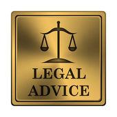 Icona di consulenza legale — Foto Stock
