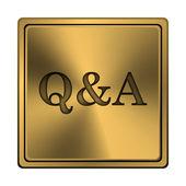 Q&a икона — Стоковое фото