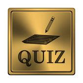 Quiz-ikonen — Stockfoto