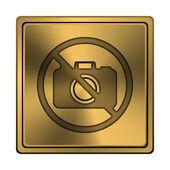 禁止的照相机图标 — 图库照片
