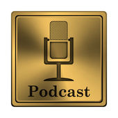 Podcast icon — Stock Photo