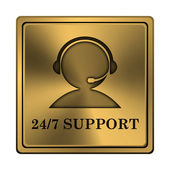 24-7 Support icon — Foto Stock