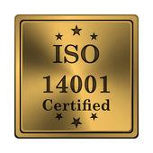 ISO14001 icon — Zdjęcie stockowe