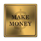 Make money icon — Zdjęcie stockowe