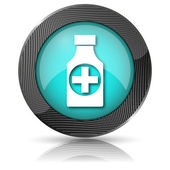 Pills bottle icon — Foto de Stock
