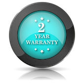 2 year warranty icon — Stok fotoğraf