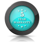 5 year warranty icon — Foto de Stock