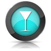 Ícone de vidro Martini — Fotografia Stock