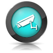Surveillance camera icon — Foto Stock