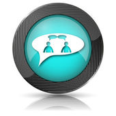 Chat icon - men in bubble — Foto Stock