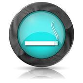Cigarette icon — Stock Photo