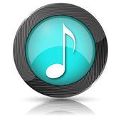 Icona della nota musicale — Foto Stock