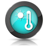 Sun and thermometer icon — Foto Stock