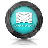 Icono del libro traducción — Foto de Stock