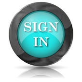 Sign in icon — Stock Photo