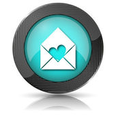 Send love icon — Stock Photo