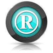 Registered mark icon — Foto de Stock