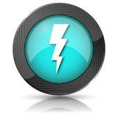 Lightning-ikonen — Stockfoto