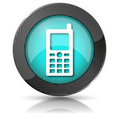 Mobile phone icon — Foto de Stock