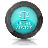 Juridisk rådgivning ikonen — Stockfoto