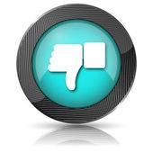 Kciuk w dół ikona — Zdjęcie stockowe