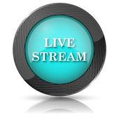 Icono de stream en vivo — Foto de Stock