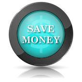 Ušetřit peníze ikonu — Stock fotografie