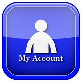 Icono de mi cuenta — Foto de Stock