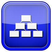 Organizational chart icon — Stock Photo