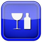 şişe ve cam simgesi — Stok fotoğraf