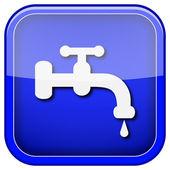 Vatten knacka på ikonen — Stockfoto