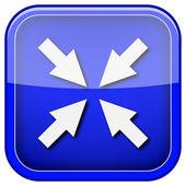 ícone de tela cheia de saída — Foto Stock