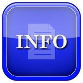 Icono de información — Foto de Stock