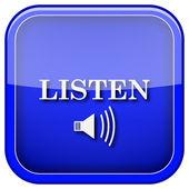Icono de escucha — Foto de Stock