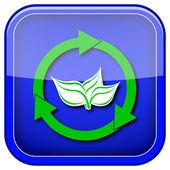återanvända pilar ikonen — Stockfoto