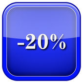 20 percentenkorting pictogram — Stockfoto